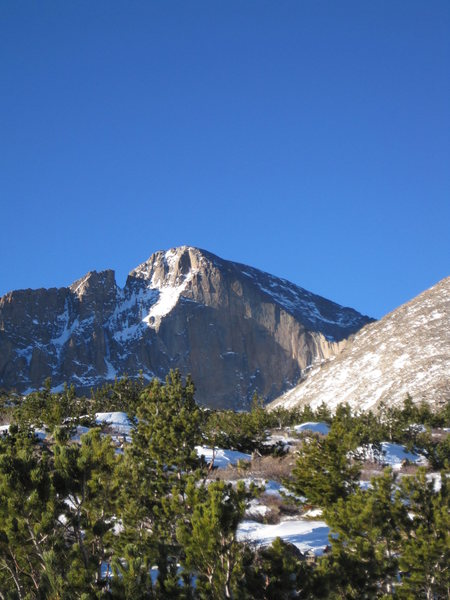 Rock Climbing Photo: the diamond on longs peak