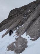 Rock Climbing Photo: dan heading up