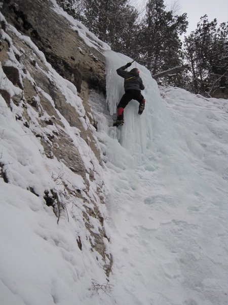 Rock Climbing Photo: third pitch , post creek