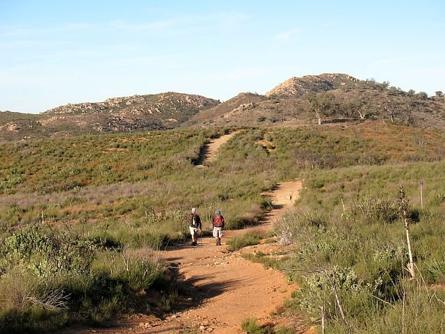 Hiking the approach trail, Eagle Peak