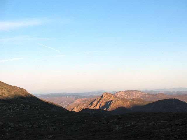 Rock Climbing Photo: Your first view of the crag on the drive in, Eagle...