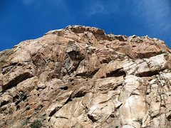 Rock Climbing Photo: Looking up at the main face, Eagle Peak
