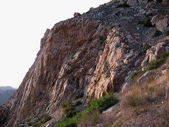 Rock Climbing Photo: Last light, Eagle Peak