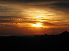 Rock Climbing Photo: A nice sunset, Eagle Peak
