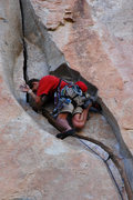 Rock Climbing Photo: Super secret crux sequence.  O'Kelley's Crack - Jo...