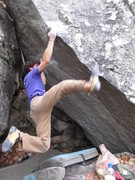 Rock Climbing Photo: Aaron Parlier sending Albatross (v9) on the Diamon...