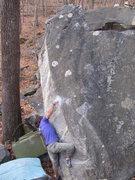 Rock Climbing Photo: Steve Lovelace on Morning Star (v7)