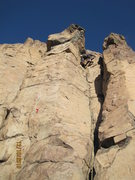 Rock Climbing Photo: High up on SS Minnow, a fun and easy route.