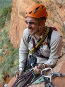 Rock Climbing Photo: Enjoying a belay for the second pitch of 'Mars Att...