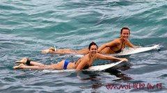 Rock Climbing Photo: Girls paddleing!