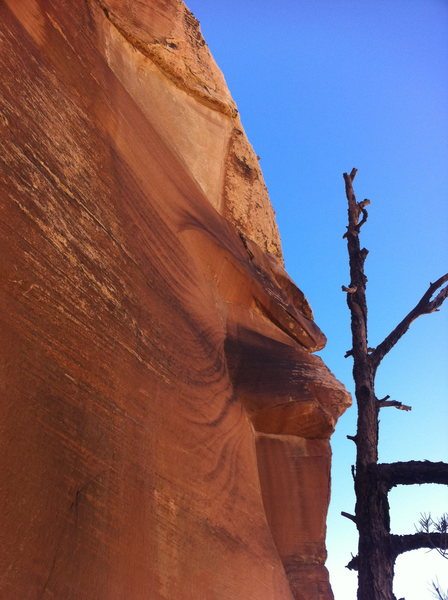 Near Chrysler Crack in Red Rock