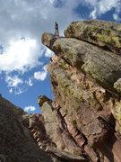 Rock Climbing Photo: Amy on rappel - 3rd flatiron
