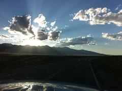 Rock Climbing Photo: Driving back from Crestone Needle