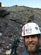 Rock Climbing Photo: Starting up Crestone