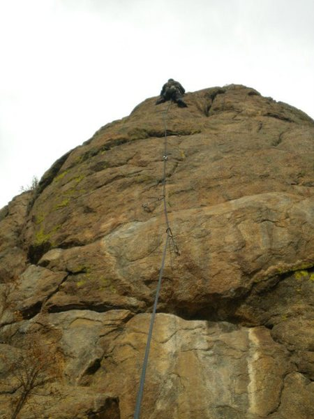 Rock Climbing Photo: Finishing the route.