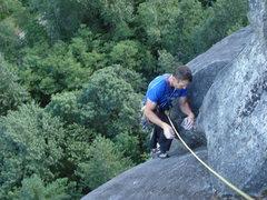 Rock Climbing Photo: keith on the final jug