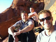 Rock Climbing Photo: Good friends basking in the sun at the panty wall