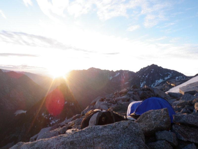 Rock Climbing Photo: Mt Stuart bivy