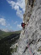 Rock Climbing Photo: Traverse pitch number 3