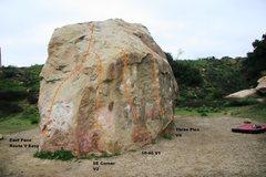 Rock Climbing Photo: Boulder One South Face Topo