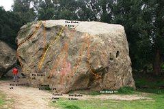 Rock Climbing Photo: Turlock West Face Topo