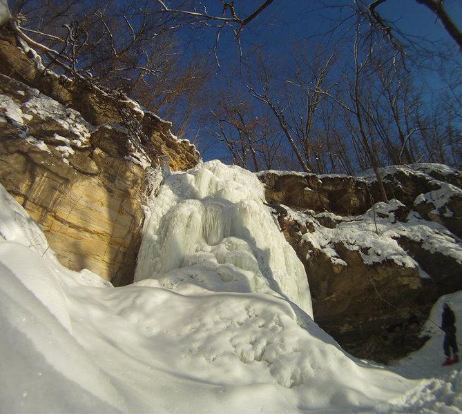 Scott climbing aptly named Minnescott Falls
