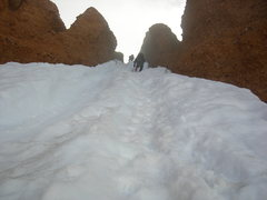 Rock Climbing Photo: Again, if you follow the glisade line from the bas...