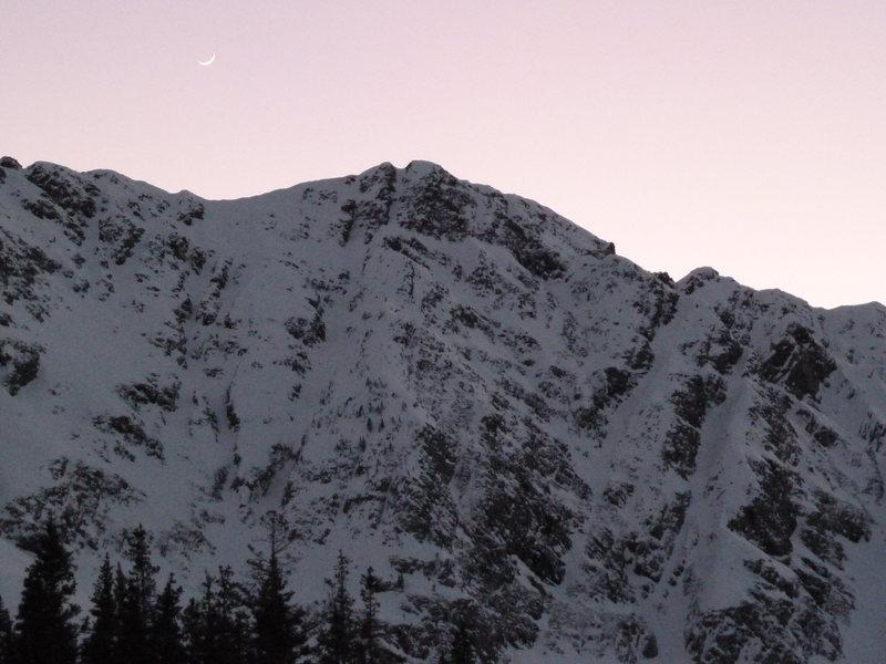Moon over North Twilight<br>