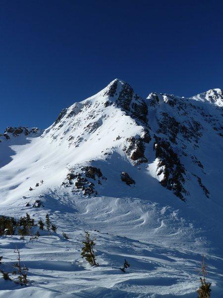 Ridge of ascent to the summit ridge of North Twilight.