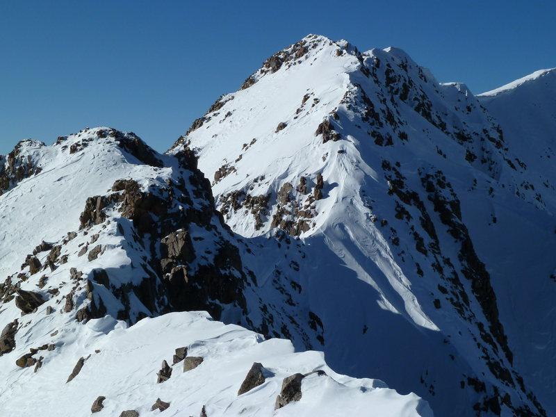 The summit ridge of North Twilight