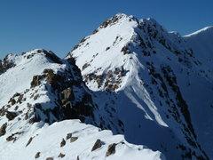 Rock Climbing Photo: The summit ridge of North Twilight