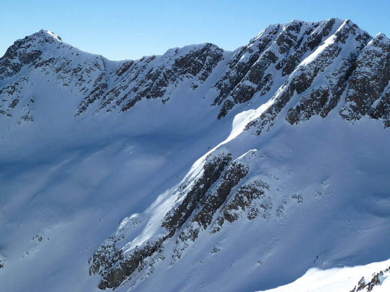 The SE ridge extension from Twilight Peak (not North Twilight).  Many amazing lines to ski if one has the time.