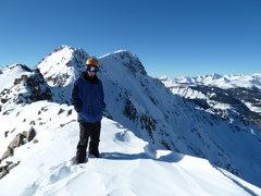 Rock Climbing Photo: Me on summit ridge of North Twilight.