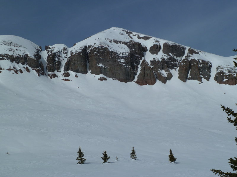 West Turkshead Peak above Little Molas Lake.