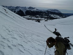 Rock Climbing Photo: Looking back towards US 550.  Snowden Peak is cent...