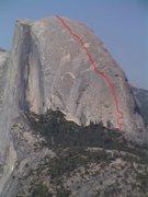 Rock Climbing Photo: Snake Dike topo