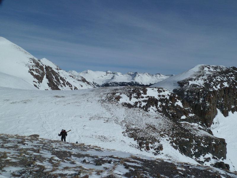 On the NE side of West Turkshead Peak.
