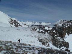 Rock Climbing Photo: On the NE side of West Turkshead Peak.