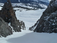 Rock Climbing Photo: Pig Puss couloir is approximately 31 degrees, 20' ...