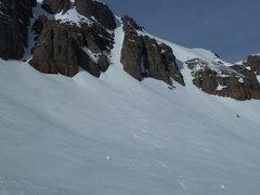 Rock Climbing Photo: Sam Gannon descending, with Kelsea Sheely waiting ...