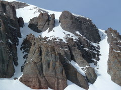 Rock Climbing Photo: A different view of the couloir.  It's short but s...