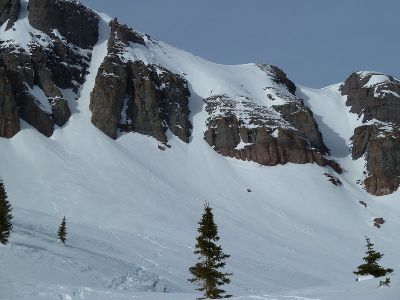 West Turkshead Peak offers easily accessible lines.