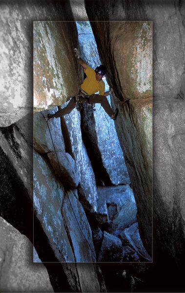Rock Climbing Photo: Kevin Dubuc on Kingfish Caravan, around 1998ish