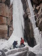 Rock Climbing Photo: Lynda Christensen and Matt Cova at the base of Spo...