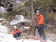 Rock Climbing Photo: Matt Cova and Lynda Christensen at the belay/rappe...
