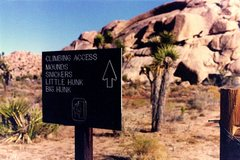 Rock Climbing Photo: Climber's info sign from NPS