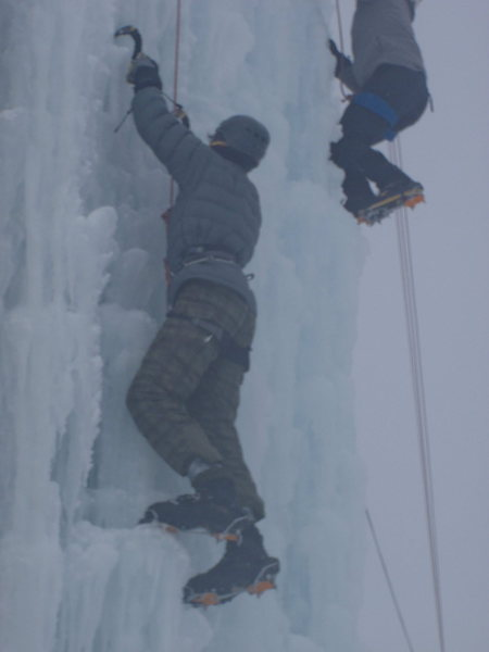 Rock Climbing Photo: First ice climb ever