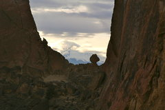 Rock Climbing Photo: Magestic Smith Rock with the Cascades in the backg...