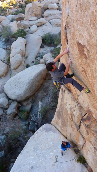 Rock Climbing Photo: The Crux of Stingray
