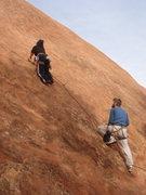 Rock Climbing Photo: Myong starting up Finnacle.